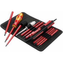 Набор сменных отверток-насадок диэлектрических с рукояткой-держателем Kraftform Kompakt VDE 16 Universal 1, 16 предметов