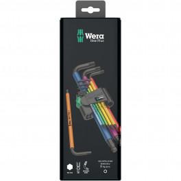 Набор Г-образных ключей WERA Multicolour BlackLaser 950 SPKL, с шаром, 1.5 - 10 мм