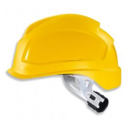Каска UVEX Феос E-S-WR, храповик, желтая