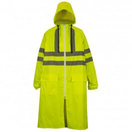 Сигнальный плащ-дождевик Brodeks, желтый