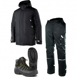 Зимний комплект спецодежды Brodeks KW 204, черный + KW 304 / Jalas 6438