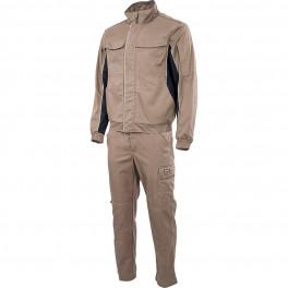 Летний рабочий костюм Brodeks KS 201, песочный + KS 301