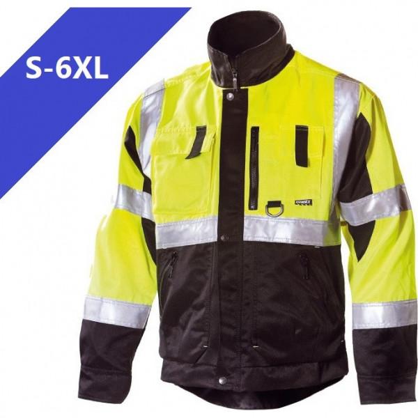 Сигнальная куртка для ИТР Dimex 6330, сигнальный желтый/черный