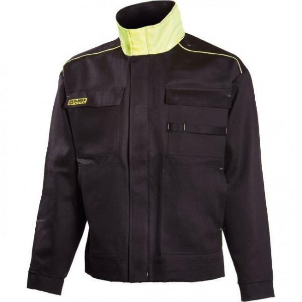 Рабочая огнезащитная куртка сварщика Dimex 644, черный/желтый