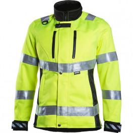 Женская рабочая куртка Dimex 6012, сигнальный желтый/черный