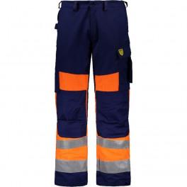 Антистатические огнеупорные брюки Dimex 6001B, сигнальный оранжевый/синий