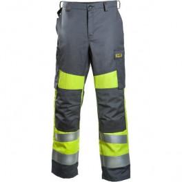 Антистатические огнеупорные брюки Dimex 6001, сигнальный желтый/серый