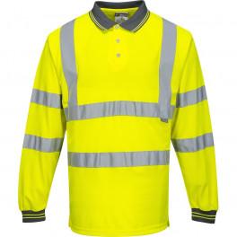 Светоотражающая рубашка-поло Portwest S277 сигнальный жёлтый