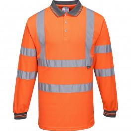 Светоотражающая рубашка-поло Portwest S277 сигнальный оранжевый