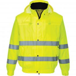 Летняя светоотражающая куртка-бомбер Portwest S161, сигнальный желтый