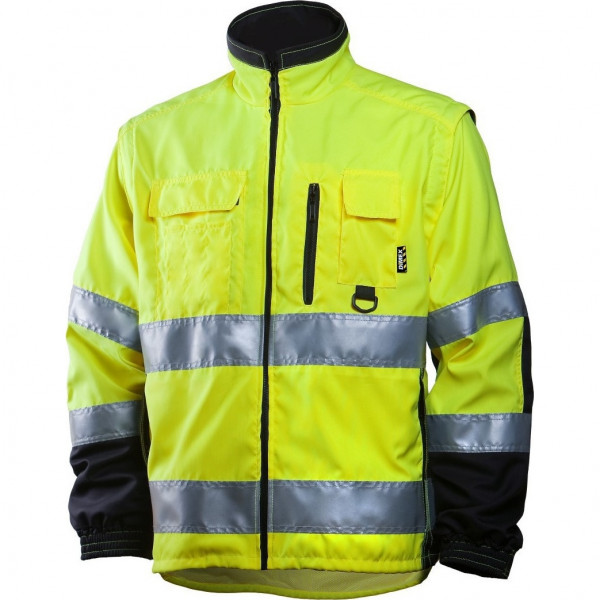 Сигнальная куртка для ИТР Dimex 684 со съемными рукавами, сигнальный желтый/черный