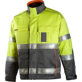 Зимняя антистатическая огнеупорная куртка Dimex 6004, сигнальный желтый/серый