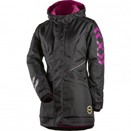 Женская зимняя куртка Dimex 6079, черный/розовый