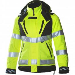 Зимняя женская куртка Dimex 6013 для ИТР, сигнальный желтый/черный