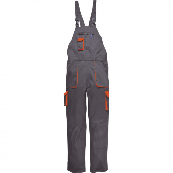 Рабочий полукомбинезон Portwest (Англия) TX12, Серый / Оранжевый