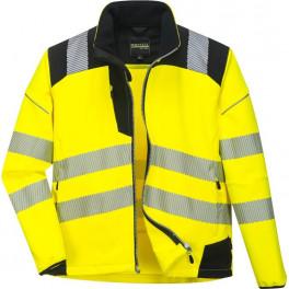 Куртка Софтшэлл Portwest T402, сигнальный желтый/черный