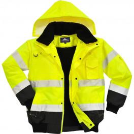 Зимняя светоотражающая куртка Portwest C465 3в1, сигнальный желтый/чёрный