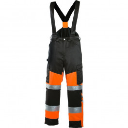 Зимние рабочие брюки Dimex 6022, сигнальный оранжевый/черный