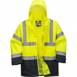 Зимняя светоотражающая куртка Portwest  S768, 5в1, сигнальный желтый/черный