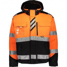 Зимняя сигнальная куртка Dimex 60211, сигнальный оранжевый/черный