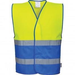 Сигнальный жилет Portwest C484, сигнальный желтый/синий