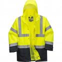 Зимняя светоотражающая куртка Portwest  S768, 5в1, сигнальный желтый/темно-синий