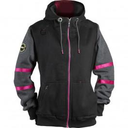 Женская куртка Dimex 4332+, черный/серый/розовый