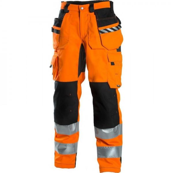 Сигнальные брюки с навесными карманами Dimex 6015, сигнальный оранжевый/черный
