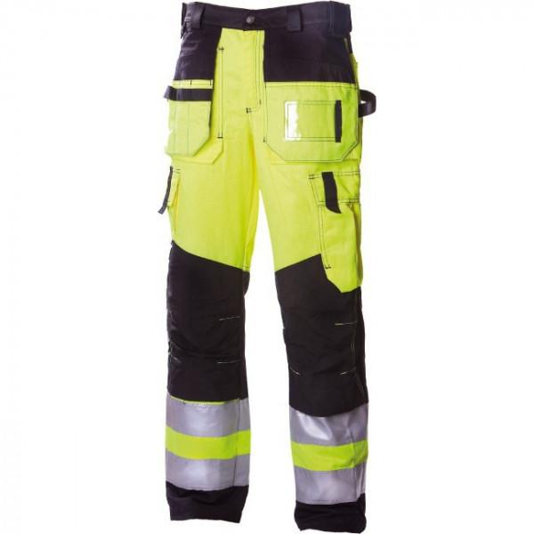 Сигнальные брюки с навесными карманами Dimex 6310, сигнальный желтый/черный