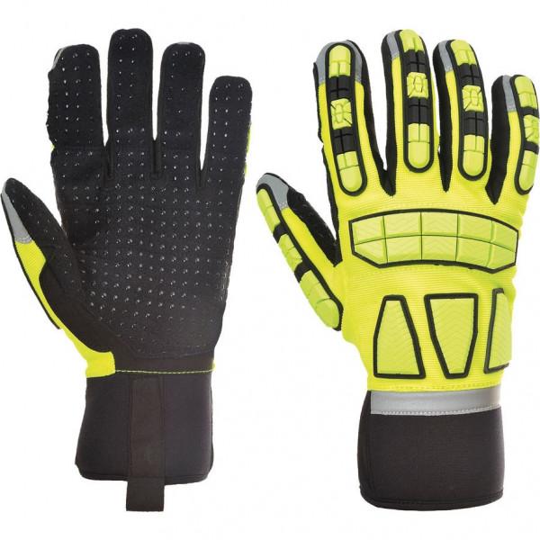 Мультизащитные перчатки Portwest A724, черный/желтый