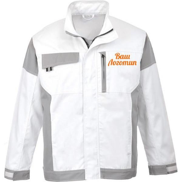 Летняя рабочая куртка Portwest (Англия) KS55, белый/серый