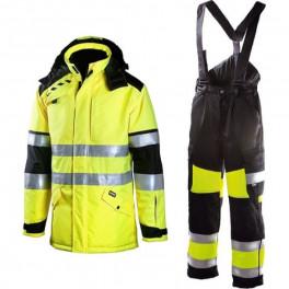 Зимний костюм Dimex 695 + 6360, сигнальный желтый/черный