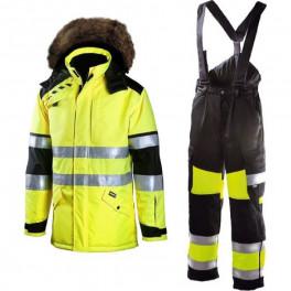 Зимний костюм Dimex Plus 695 + 6360, сигнальный желтый/черный