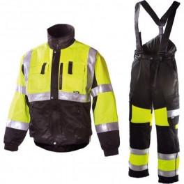 Зимний костюм Dimex 6350+6360, сигнальный желтый/черный