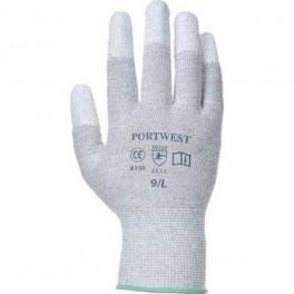 Антистатические перчатки с ПУ покрытием Portwest A198, белый