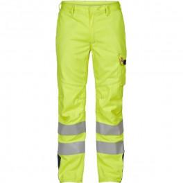 Антистатические огнеупорные брюки Engel Safety+ 2285-172, сигнальный желтый/синий