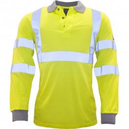 Огнезащитная антистатическая рубашка-поло Portwest FR77, сигнальный желтый