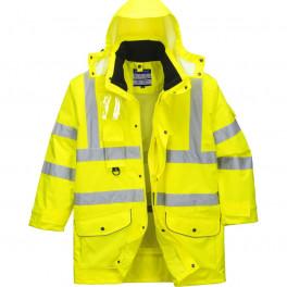 Зимняя светоотражающая куртка Portwest  S427, 7в1, сигнальный желтый/черный