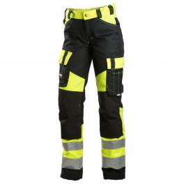 Женские сигнальные брюки Dimex 6046, сигнальный желтый/черный