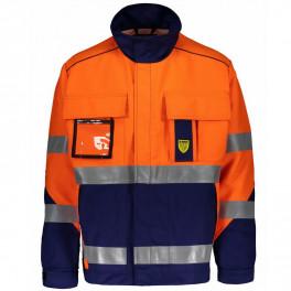 Антистатическая огнеупорная куртка Dimex 6000B, сигнальный оранжевый/синий