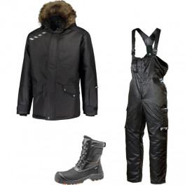 Зимний комплект спецодежды Dimex Extreme Plus черный + 619/Sievi ALASKA XL+ S3HRO