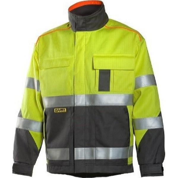 Антистатическая огнеупорная куртка Dimex 6000, сигнальный желтый/серый