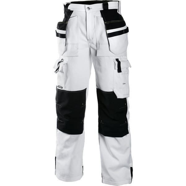 Рабочие брюки с навесными карманами Dimex 679, белый/черный
