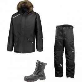 Зимний комплект спецодежды Dimex Extreme Plus черный + 682/Sievi ALASKA XL+ S3HRO