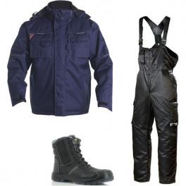 Зимний комплект спецодежды Engel Combat 1232-107 + Dimex 619 темно-синий/черный/Safety Jogger Nordic S3