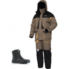 Зимний комплект спецодежды Norfin Arctic NEW (до -25 градусов), хаки/черный/Safety Jogger Nordic S3