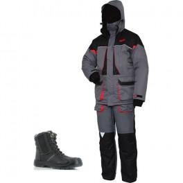 Зимний комплект спецодежды Norfin Arctic Red NEW (до -25 градусов), серый/черный/Safety Jogger Nordic S3