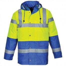Зимняя светоотражающая куртка Portwest  S466, сигнальный желтый/синий