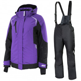 Зимний женский костюм Brodeks KW 208, сиреневый/чёрный + KW 405