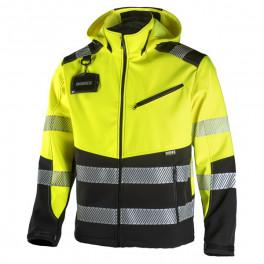 Сигнальная куртка Softshell Dimex 6099, сигнальный желтый/черный